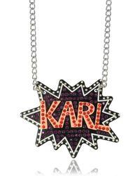 Karl Lagerfeld - K/pop Glitter Necklace - Lyst
