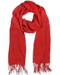 Mila Schon - Red Wool And Cashmere Stole - Lyst