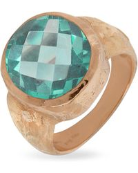 Torrini - Stefy - Green Amethyst Oval Gemstone 18k Rose Gold Ring - Lyst