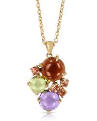 Mia & Beverly - Gemstones 18k Rose Gold Pendant Necklace - Lyst