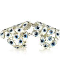 Bernard Delettrez - Sterling Silver Articulated Ring W/blue Eyes - Lyst