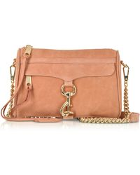 Rebecca Minkoff - Dusty Peach Leather Mini M.a.c. Crossbody Bag - Lyst