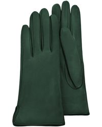 FORZIERI - Forest Green Calf Leather Women's Gloves W/silk Lining - Lyst