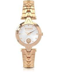 Versus - V Versus Rose Gold Tone Stainless Steel Women's Bracelet Watch - Lyst