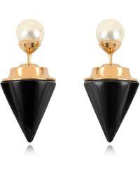 Vita Fede - Double Titan Stone Pearl Earrings W/akoya Pearls - Lyst