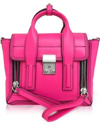 3.1 Phillip Lim - Neon Pink Leather Pashli Mini Satchel - Lyst