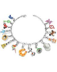 Tedora - Sterling Silver Multicolor Charm Bracelet - Lyst