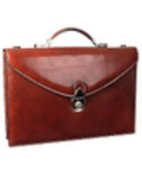 L.A.P.A. - Classic Cognac Leather Briefcase - Lyst