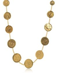 Alcozer & J - Brass Coin Necklace - Lyst