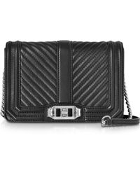 Rebecca Minkoff - Small Quilted Leather Love Crossbody Bag - Lyst