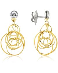 Orlando Orlandini - Scintille - Small Diamond 18k Gold Drop Earrings - Lyst