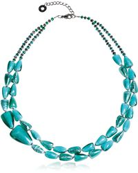 Antica Murrina - Women's Light Blue Steel Necklace - Lyst