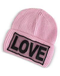 5c3c7ae8c2f Versace - Love Knitted Wool Beanie Hat - Lyst