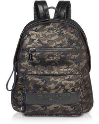 Balmain | Military Green/black Camouflage Nylon Men's Club Backpack W/embossed Signature Logo | Lyst