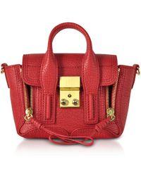 3.1 Phillip Lim - Red Leather Pashli Nano Satchel Bag - Lyst