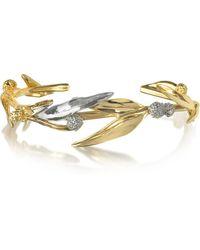 Aurelie Bidermann - 18k Gold-plated Brass Mimosa Bangle Bracelet - Lyst