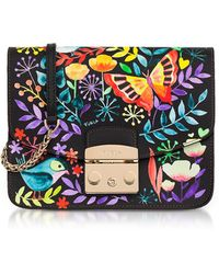 Furla - Giardino Notturno Lizard Printed Leather Metropolis Small Crossbody Bag - Lyst