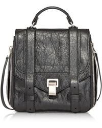 Proenza Schouler - Ps1+ Zip Black Leather Backpack - Lyst