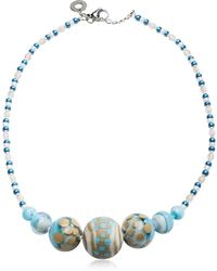 Antica Murrina - Women's Blue Metal Necklace - Lyst