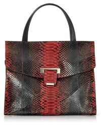 Ghibli - Python Leather Top Handle Satchel Bag - Lyst
