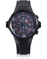 Lancaster - Space Shuttle Black Stainless Steel Chronograph Watch - Lyst