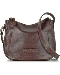The Bridge | Plume Soft Donna Dark Brown Leather Shoulder Bag | Lyst
