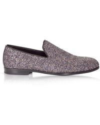 Jimmy Choo - Marlo Twilight Glitzy Glitter Fabric Slippers - Lyst