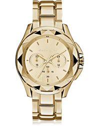 Karl Lagerfeld - Karl 7 Iconic Unisex Golden Chronograph Watch - Lyst