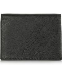 Pineider - Country Black Leather Business Card Holder - Lyst