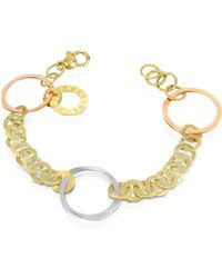 Torrini - Fiesole - Three-tone 18k Gold Circles Chain Bracelet - Lyst