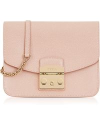 Furla - Moonstone Leather Metropolis Small Crossbody - Lyst
