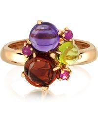 Mia & Beverly - Gemstones 18k Rose Gold Ring - Lyst