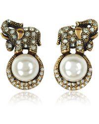 Alcozer & J - Elephant Earrings W/pearls - Lyst