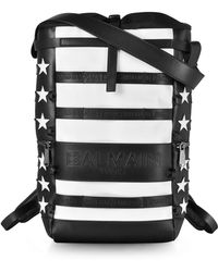 Balmain - American Flag Black And White Patchwork Leather Men's Cruise Backpack - Lyst