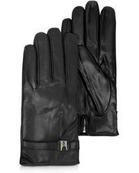 Moreschi - Alaska Black Leather Men's Gloves W/cashmere Lining - Lyst