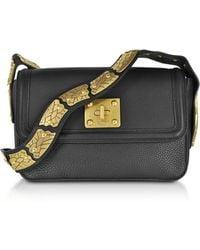 RED Valentino - Large Black Pebble Leather Crossbody Bag - Lyst