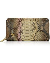 Ghibli - Glitter Python Leather Continental Wallet - Lyst