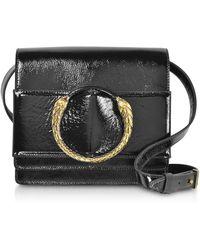 Roberto Cavalli - Black Patent Leather Crossbody Bag - Lyst