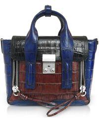 3.1 Phillip Lim - Croco Leather Pashli Mini Satchel - Lyst