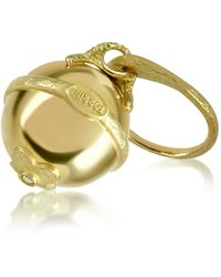 Torrini - Ball - 18k Yellow Gold Diamond Charm Ring - Lyst