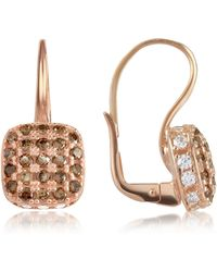Azhar - Cubic Zirconia And Sterling Silver Square Earrings - Lyst