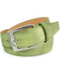 Pakerson - Men's Pistachio Green Hand Painted Italian Leather Belt - Lyst