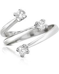 FORZIERI - 0.215 Ct Three-stone Diamond 18k Gold Ring - Lyst
