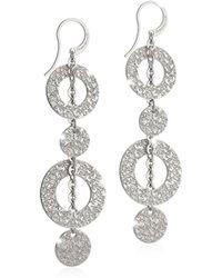 Rebecca - R-zero Rhodium Over Bronze Pendant Earrings - Lyst