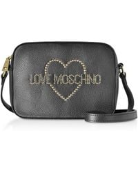 d925af9138 FORZIERI. Love Moschino - Small Leather Crossbody Bag W/ Golden Studs - Lyst