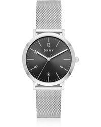 DKNY - Minetta Stainless Steel Mesh Women's Watch - Lyst