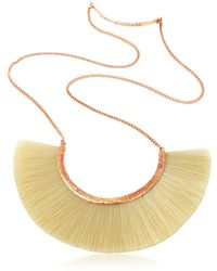 Bjorg - Pale Moon White Unicorn Mane Necklace - Lyst