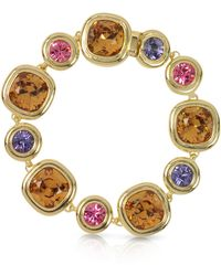 FORZIERI - Purple Pink And Orcher Crystals Bracelet - Lyst