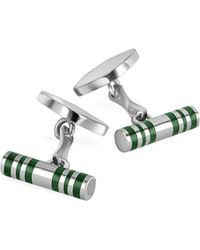FORZIERI - Cylinder Sterling Silver Double Sided Cufflinks - Lyst