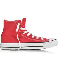 Converse - All Star Red Canvas High Top Trainer - Lyst